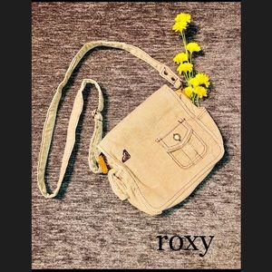 Roxy Tan Corduroy Crossbody Bag